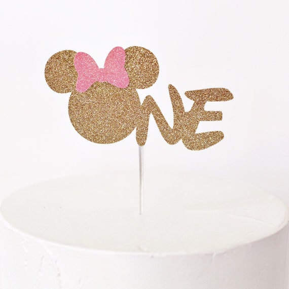 Surprising Minnie Mouse One Cake Topper First Birthday Cake Topper Etsy Funny Birthday Cards Online Inifodamsfinfo