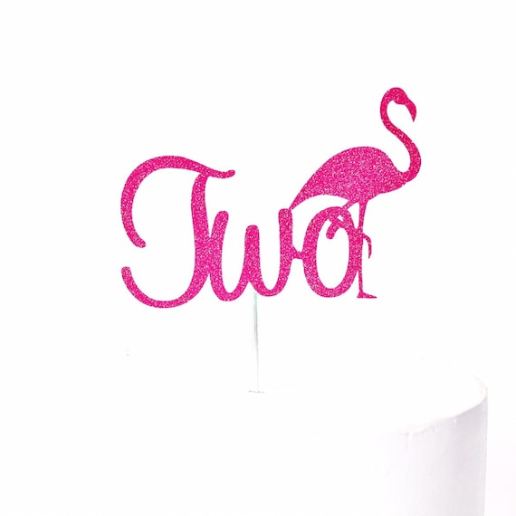 Flamingo Two Cake Topper