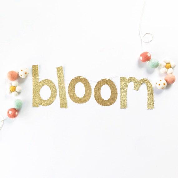 Bloom Banner | Spring Banner | Spring Decorations | Easter Decorations | Easter Banner | Felt Daisy Banner | Floral Banner | Spring Time