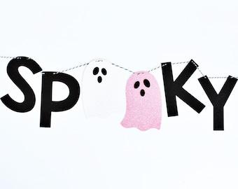 Spooky Banner   Halloween Banner   Halloween Decorations   Halloween Party   Boo Banner   Ghost Decorations   The Spooky One 1st Birthday
