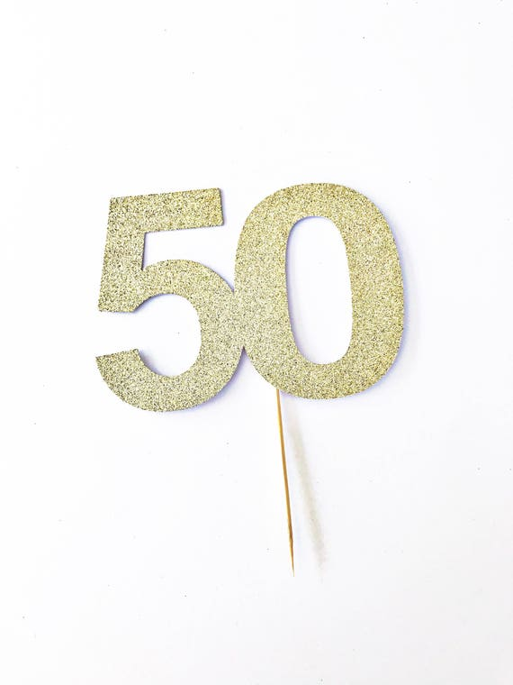 50th Birthday Cake Topper / Fifty and Fabulous Cake Topper / 50 Years Old / Custom Age Topper / Milestone Birthday / Personalized Topper