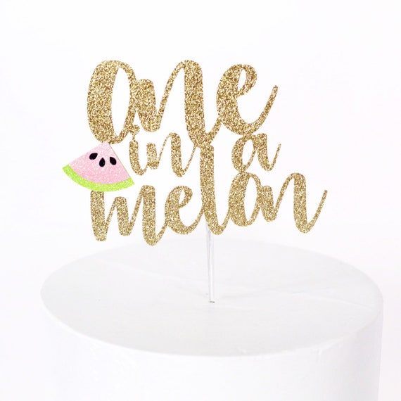 One in a Melon Cake Topper | Watermelon 1st Birthday | Sweet One First Birthday | Watermelon Cake Topper | Watermelon Birthday Decorations