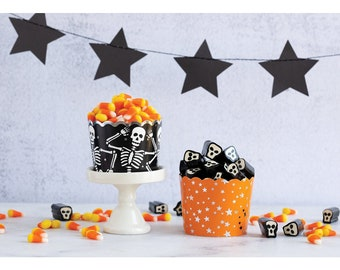Halloween Baking Cups   Skeleton Baking Cups   Halloween Treat Cups   Halloween Party Decorations   Halloween Tableware   Halloween Cupcakes