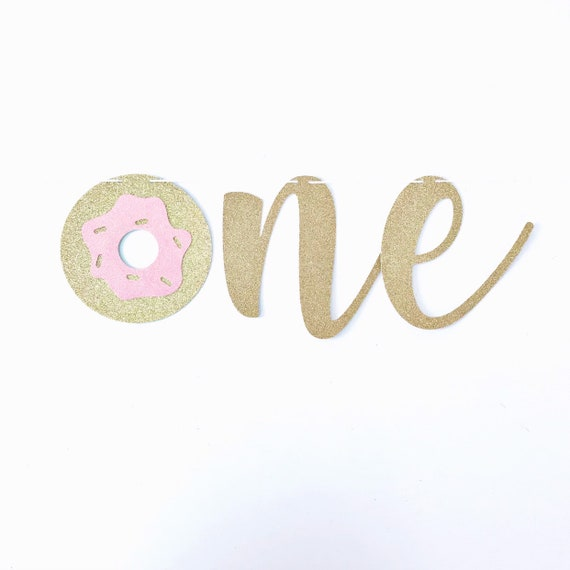 Donut One High Chair Banner