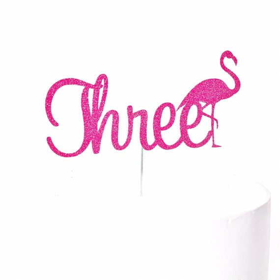 Three Flamingo Cake Topper