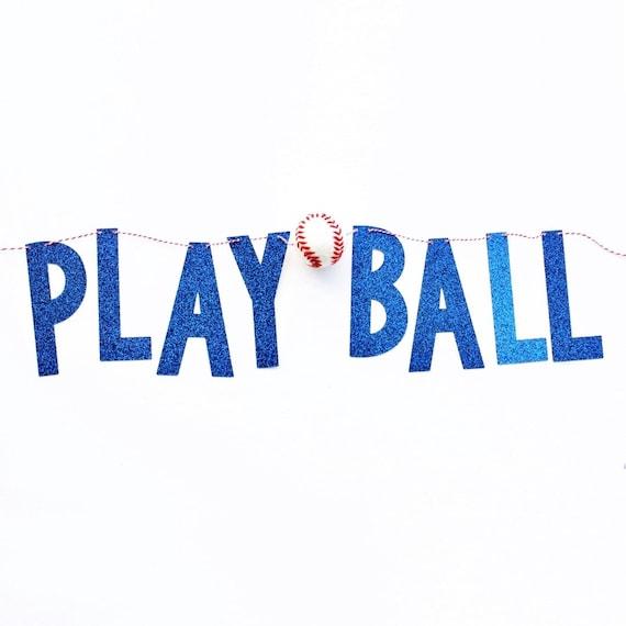 Play Ball Banner | Baseball Banner | Baseball Birthday Party Decorations | Boy Birthday | Sports Themed Birthday Party | Boy Room Decor