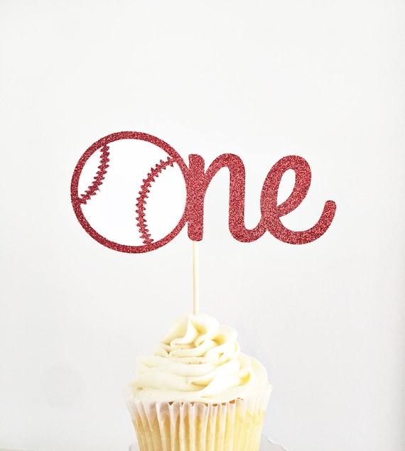 Baseball One Cake Topper First Birthday Sports