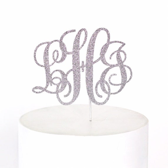 Monogram Cake Topper / Initial Cake Topper / Custom Cake Topper / Bridal Shower Cake Topper / Monogram Wedding Cake Topper / Personalized