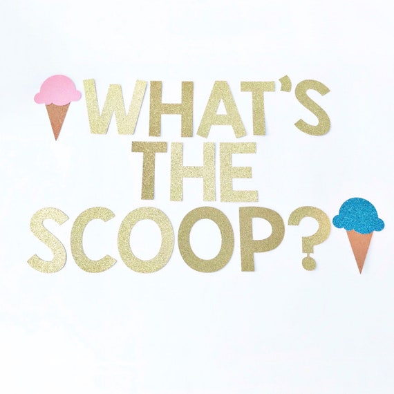 What's The Scoop? Gender Reveal Banner