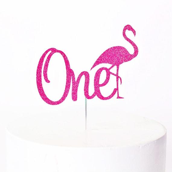Flamingo One Cake Topper