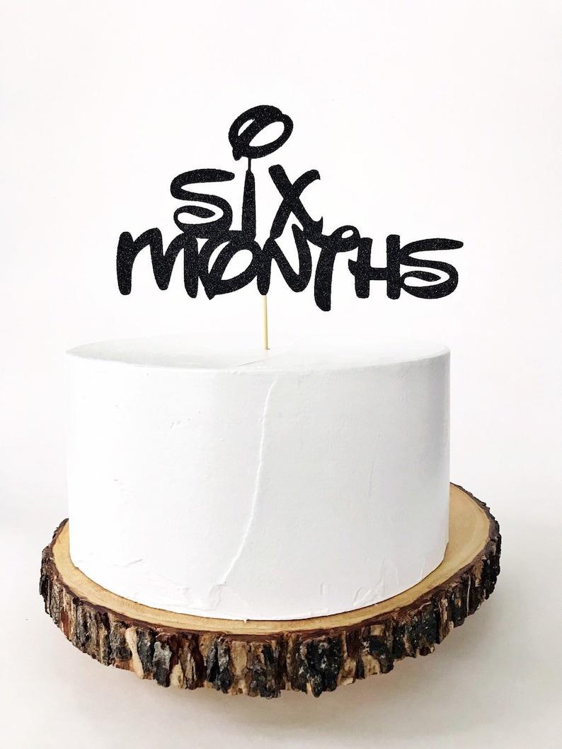 Half Birthday Cake Topper Mickey Mouse Six