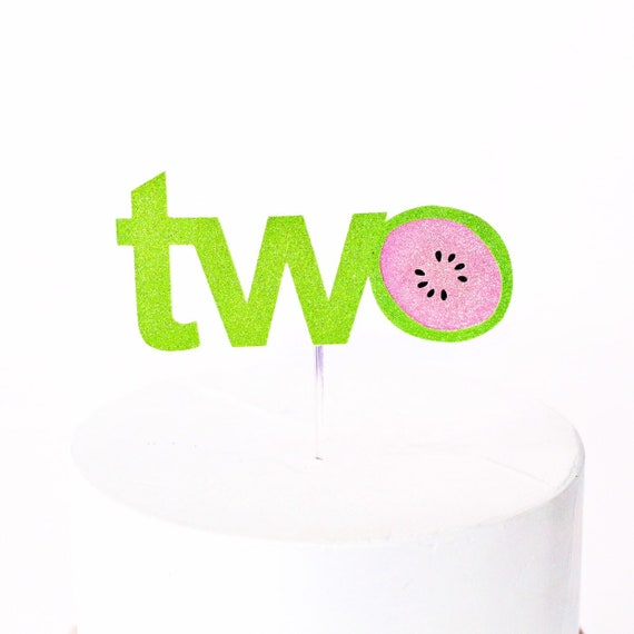 Watermelon Two Cake Topper
