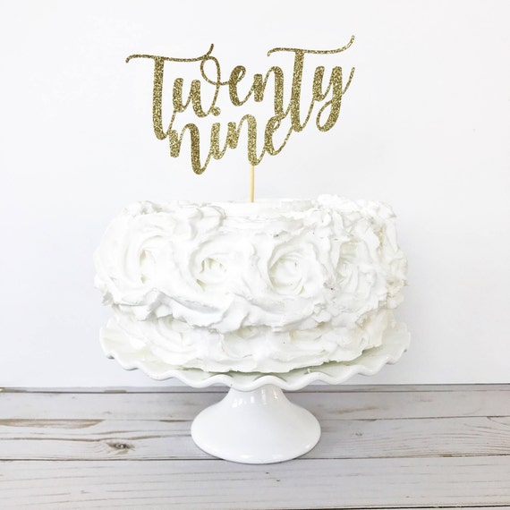 Twenty Nine Cake Topper 29 Cake Topper 29 Years Old 29th Etsy