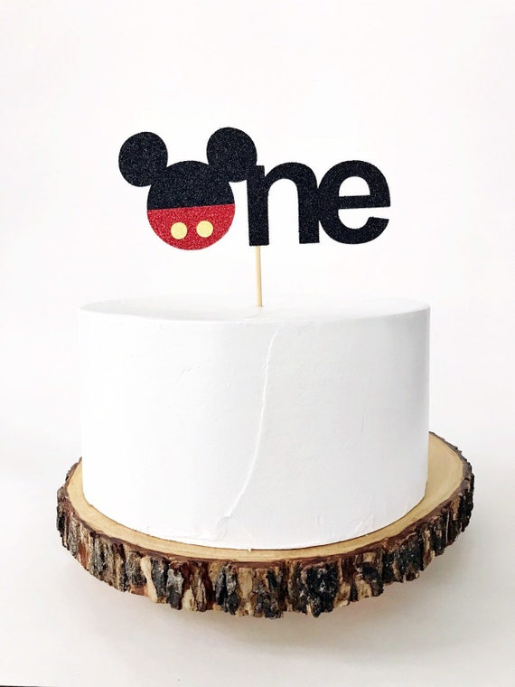 Surprising Mickey Mouse First Birthday Cake Topper Mickey Mouse Etsy Personalised Birthday Cards Bromeletsinfo