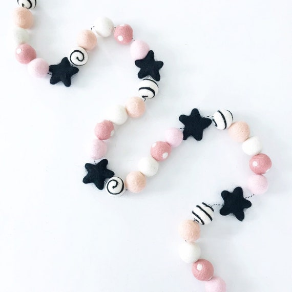 Halloween Felt Ball Garland | Halloween 1st Birthday | The Spooky One First Birthday | Ghost Decorations | Pink Halloween Decor | Banner