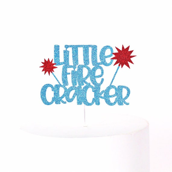 Little Firecracker Cake Topper