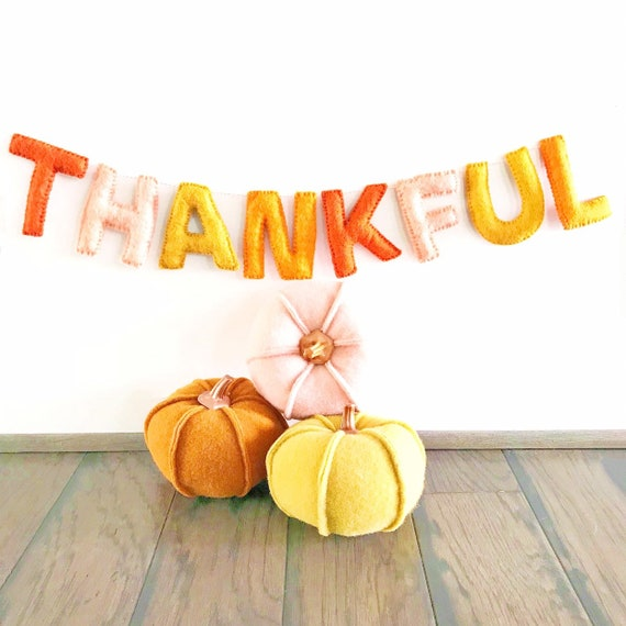 Thankful Banner | Thanksgiving Sign | Thanksgiving Decorations