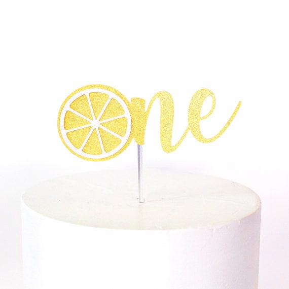 Lemon One Cake Topper