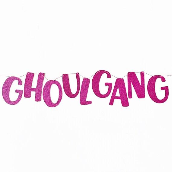 Ghoul Gang Banner | Halloween Banner | Hey Ghoul Hey | Ghouls Rule | Tiny Ghoul Gang | Halloween Decorations | Pink Halloween Decor
