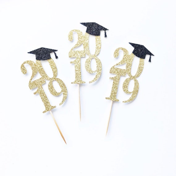 2019 Graduation Cupcake Toppers