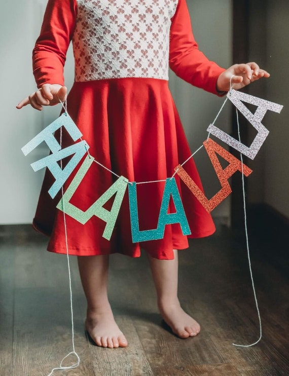 FaLaLaLaLa Banner / Christmas Banner / Custom Holiday Decorations / Holiday Party Banner / Garland / Christmas Home Decor / Be Merry