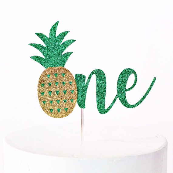 Pineapple One Cake Topper