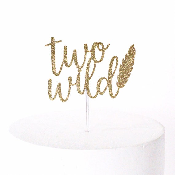 Two Wild Cake Topper