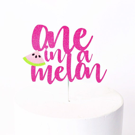One in a Melon Cake Topper | Watermelon 1st Birthday | Sweet One First Birthday | Watermelon Cake Topper | Watermelon Birthday Decorations