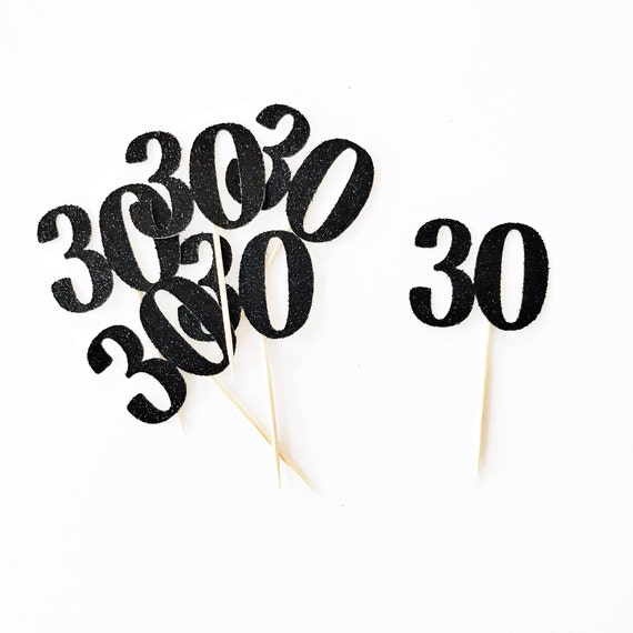 30 Cupcake Toppers / 30th Birthday / Dirty 30 Cupcake Toppers / 30 Years Old / Thirty Cupcake Toppers / Cheers to 30 Years