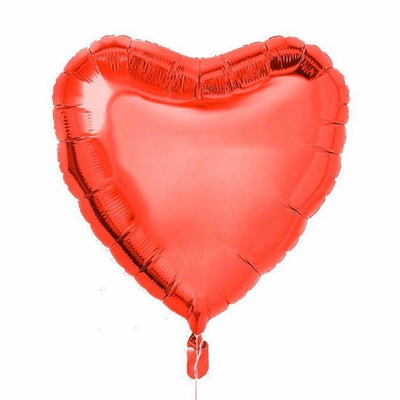 Red Heart Balloon | Valentine's Day Balloon | Red Foil Heart Balloon | Bridal Shower Balloon | Love Balloon | XOXO | Heart Shaped Balloon