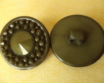 7 buttons green olive green 23mm (5408) button