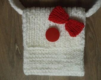 Knitted bag 16 cm