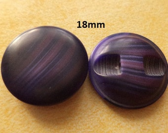12 Violet Buttons 18 mm (1283) button Jack Buttons