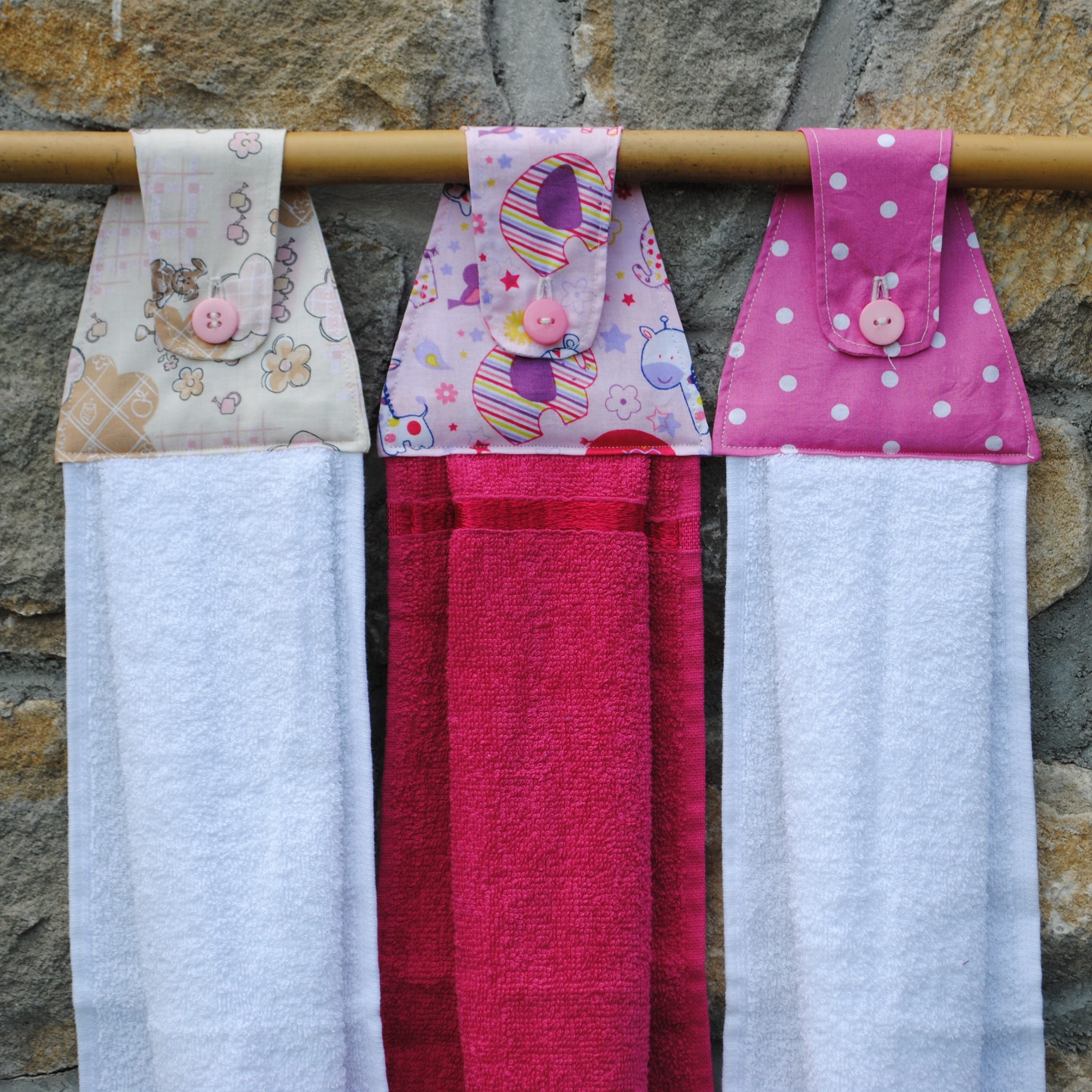 Red Kitchen Hand Towels: Hanging Towels: Custom Made Hand Towel Tea Towel Kitchen