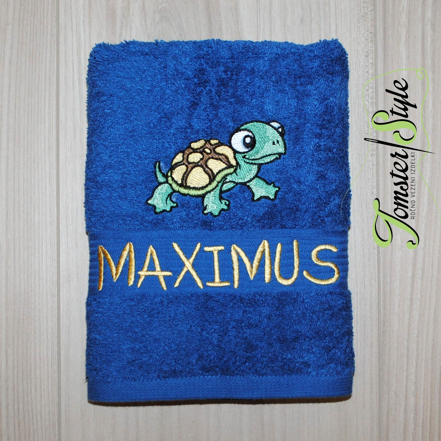 Personalized Bath Towel TURTLE Embroidered Towel Bath Gift