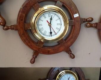 ships wheel clock