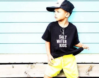Salt Water Kids 100% Organic cotton tee - kids surf tshirt - baby surf clothing - hipster clothes - kids surf clothing - surf gift - kids be