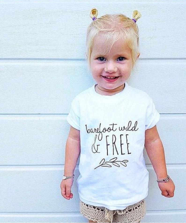 b5ab16d734e9 Barefoot Wild   Free tshirt 100% Organic GIRLS BOHO TEE