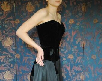 In 1950 silk evening dress
