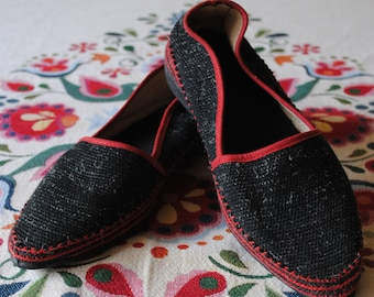 Black and red vintage shoes from 1950