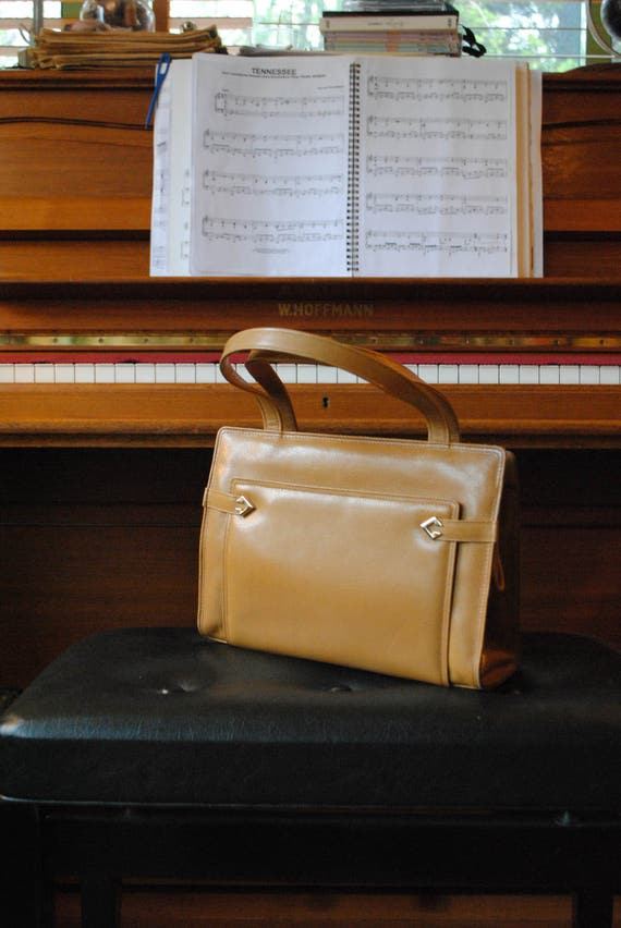 Ted Lapidus gold leather bag