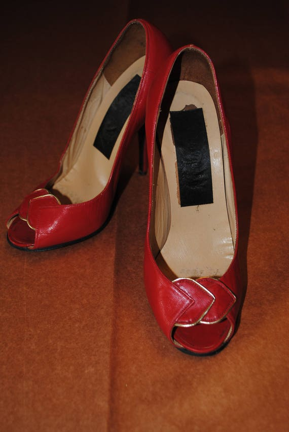 Red 1950's shoes - size: 35 - image 4