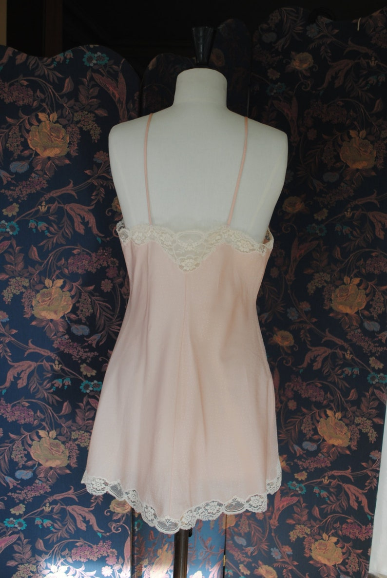 Babydoll pink with small white polka dots 1940  size 42