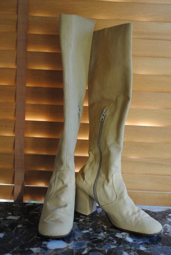 """Linen boots ''Maud Frizon"""" Paris  /Size :"""