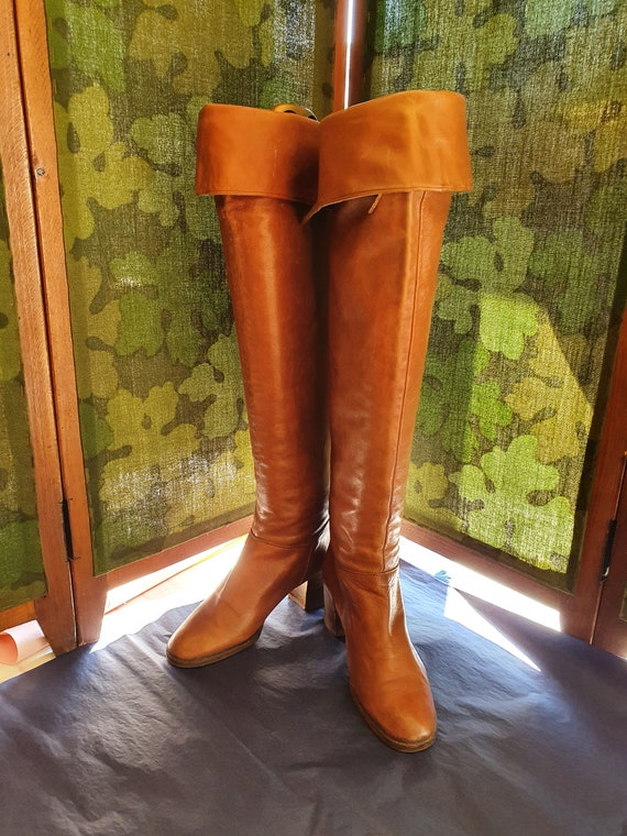 Boots thigh-high boots 1970-Size:37