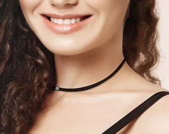Simplissimo necklace, with Swarovski rhinestones®, simple, minimalist