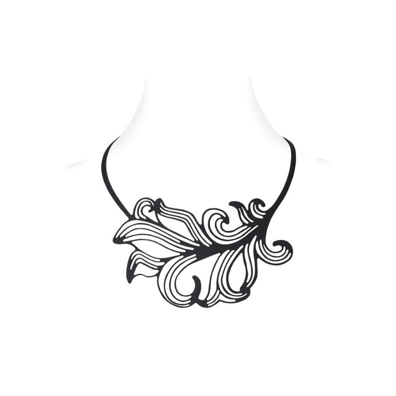 Wave necklace with soul sea female flame feather silicone fantasy