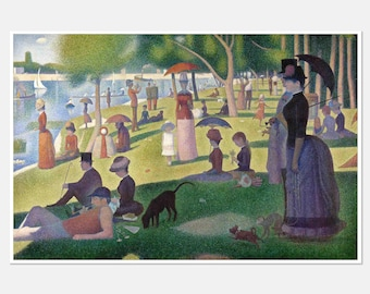 Sunday in the Park with George Lyrics Musical Theatre Gift Stephen Sondheim West End Painting Broadway Music Home Decor Wall ART PRINT