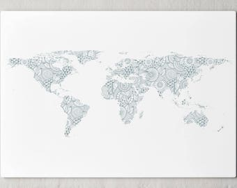 Large vintage maps prints cities astrology etc by wallmacart map print large world map geometric modern design world map print world map art large map art world map canvas world map art 259 gumiabroncs Images