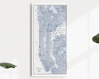 Detailed Map Of New York City.New York City Map Etsy